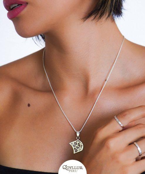 Collares de Filigrana de plata - Collares hechos a mano - Colgante - Joyerias de plata en Lima - Q'oyllur Perú